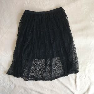 Forever 21 Black Lace Skirt size S